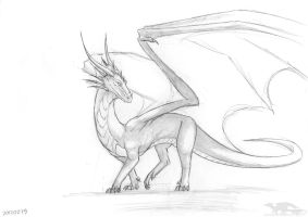 120303 sketch real dragon by axe-ql