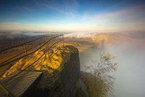 Saxon Switzerland - Brocken Spectre by mjagiellicz