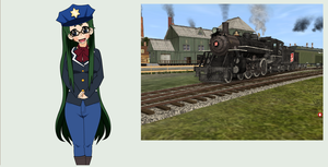 Mary-Anne and her engine by stormsirens2