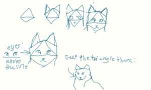 cat head totorial (recomend on paper) by Rebekki-chan