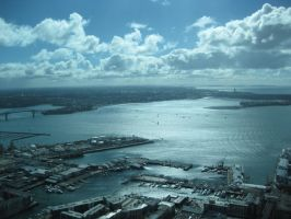 Auckland Harbour by Bauscheborzel