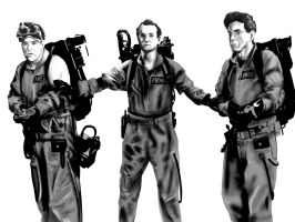 Ghostbusters Complete Grayscal by DavidUnwin