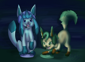 Game Night by LupusSilvae