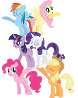 Mane 6- Friendship Pyramid by charli3brav0