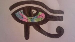 colorful eye tat design by sugarskull-tattoos