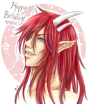 Demon Dude : Happy Birthday by sakurasamichan