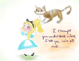 Cheshire pranking Disney Alice by JasminSalen