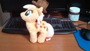 Apple Jack Plushie by skimtaru