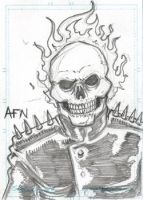 Ghost Rider Sketch Card by Nortedesigns