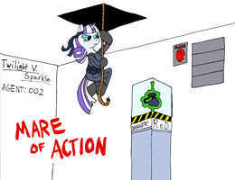 Twilight V. Sparkle - Mare of Action! by Midnight-Cobra
