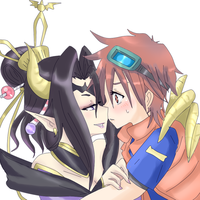 Request - taiki and lilithmon by Mi-chan4649