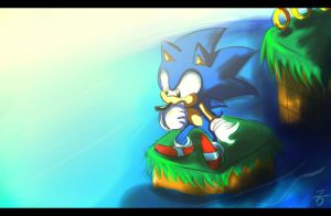 Sonic Jump in water...? by Omiza