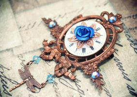 Vintage copper steampunk brooch by Verope
