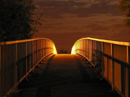 Bridge in night by Tlapi