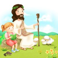 Jesus and Children 1 by CARFillustration
