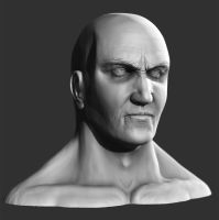zbrush head by liamslackofsurprise