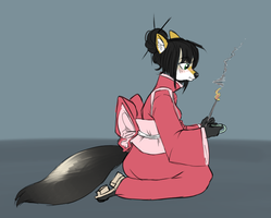 Tea Ceremony WolfVal by Zoinkles