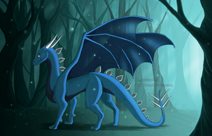 Blue Forest by The-Nutkase
