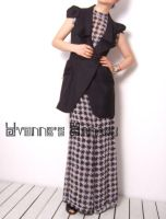 Black White Checked Jumpsuit11 by yystudio