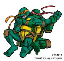 Ticklish Turtle Tussle by sage-of-spice