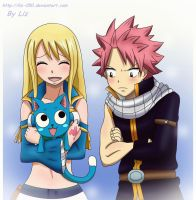 Natsu x Lucy and Happy: Jealousy by Liz-050