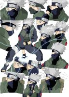 kakashi 1k collage coloured by LisaFeary