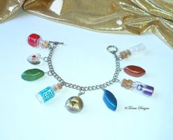 Zelda Ocarina Of Time All Custom Charms Bracelet by TorresDesigns