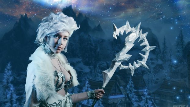 Skyrim Ice Witch :) by morgoth87