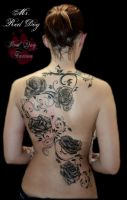 Roses by Reddogtattoo