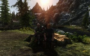 Skyrim - Just Arrived at Riverwood by Euther