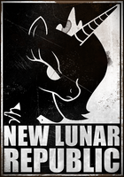 New Lunar Republic Poster old-used look by Grumbeerkopp