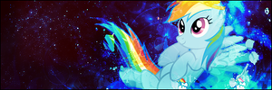 Rainbow Dash Signature Banner by LegendaryDitto