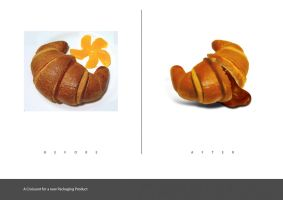 Croissant Before and after by Viboo