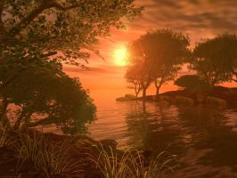 Peaceful sunset -- srp by serpent