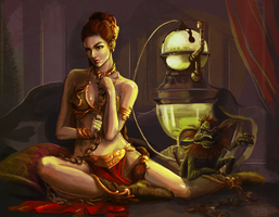 Slave Leia by brainleakage