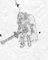 Old Drawing of a Knight by Mongoosquilax