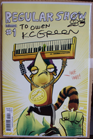 Signed Regular Show #1 Cover B by OwenneiL