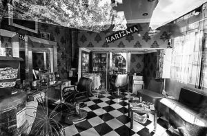 Inside of a haricut saloon by TanBekdemir