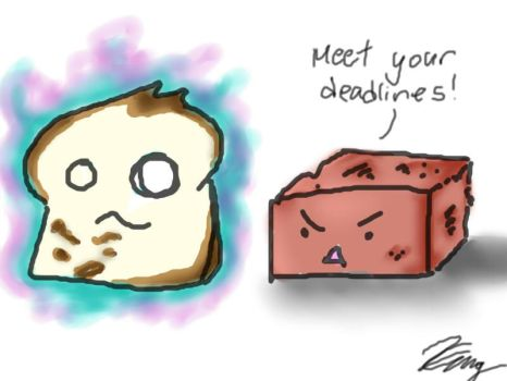 Haunted Toast and Brick by BlackCat314