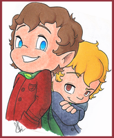 Frodo and Sam by KicsterAsh