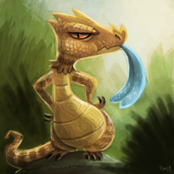 DAY 169. Blue Tongue Skink (20 Minutes) by Cryptid-Creations