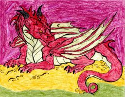 Tolkien's Smaug by DayDreamPrincess