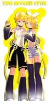 Tda-append-style Kagamine by ShootingStarBlue