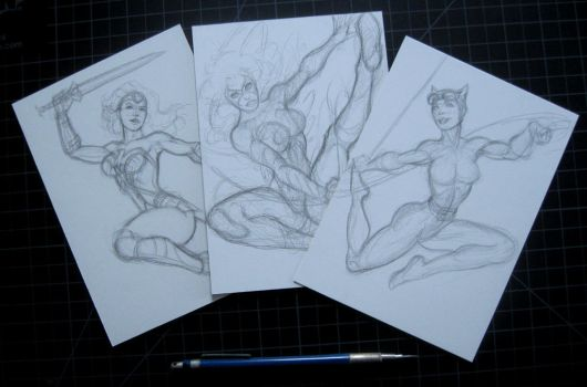 5 X 7 SKETCH CARDS IN THE WORKS! by AHochrein2010