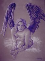 purple angel no. 2 by larkin-art