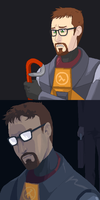 Gordon Freeman is sad by echidnite