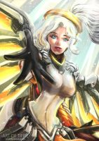 Overwatch Mercy! -Take my hand! by ArtofTiffie