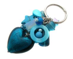 Turquoise Heart Keychain by fairy-cakes