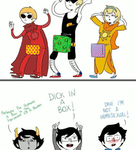 A special gift for Christmas... (homestuck gif) by sillyVantas