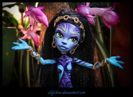 monster high ooak repaint : Alma by clefchan